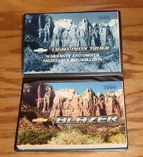 Original 1999 Chevrolet Blazer Owners Operators Manual w Case 99 Chevy