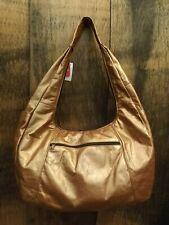 NEW Copper  Leather 6 Pocket Zip Around Hobo 10.5x17x5.5 Boho Shoulder Bag Purse