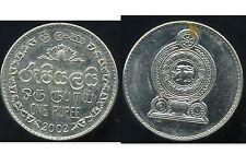 SRI LANKA  1 rupee 2002   ( bis )