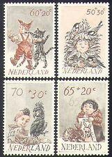 Netherlands 1982 Children/Welfare Fund/Cat/Rabbit/Parrot/Birds/Health 4v n38497
