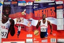 1996 Michael Johnson Wheaties Cereal Box unused factory Flat bp404