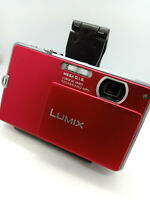 Panasonic LUMIX DMC-FP2 14MP MegaPixel Digital Camera Super Slim Metallic RED