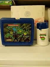 Vintage 1989 Thermos Teenage Mutant Ninja Turtles Plastic Lunch Box And Thermos
