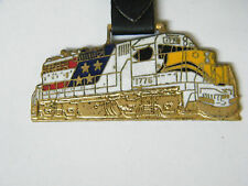 Vintage Train Locomotive FOB With Leather Strap #1
