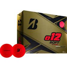 BRIDGESTONE E12 SOFT MATT RED 3 DOZEN GOLF BALLS - VALUE PLUS!