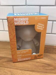 "Kidrobot 4"" Munny World DIY Mini Pop Figure Brand New Loot Crate Blank NEW"