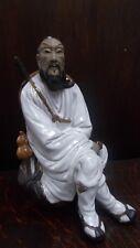 Rare Vintage Shiwan Chinese Mudman Glazed Porcelain Warrior Figurine 24 cms VGC