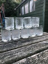 Set Of 9 Tumblers  Ravenhead Siesta Bark Texture Icy Glasses