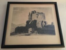 Vintage framed Etching Print LAG CASTLE PLI published 1790 by Hooper