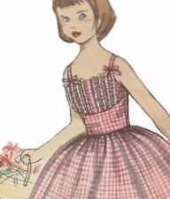 Vintage 1950s Girls Dress SEWING PATTERN Sun Dress Rockabilly Size 2 3 4 5 COPY