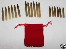 US Brass Collar Stays 3 sizes 2in, 2.5in, 3in Lot of 18 pcs in Velvet Pouch