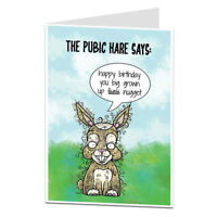 Funny Rude Happy Birthday Card For Men & Women
