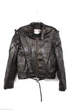 Chess King Leather Bomber Biker Jacket Mod Club Vtg 1980s Mens M 40 Drk Brown