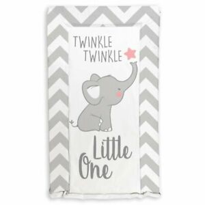 Elephant Padded Changing Mat 'Twinkle Twinkle' Pink Star