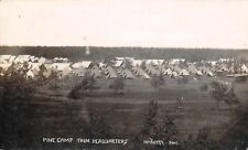 Fort Drum New York~Pine Camp~Infantry No 1~Tents from Headquarters~c1916 RPPC