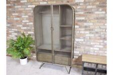 Industrial Metal Wardrobe 2 Doors 4 Drawers Storage Organiser