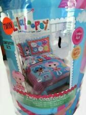 Lalaloopsy Comforter Set Reversible Twin Size Pillow Sham Bed Skirt Cotton Rich
