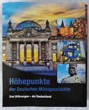 30,LEERALBUM !!!  - Höhepunkte der deutschen Münzgeschichte - guter Zustand