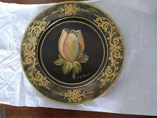"Tulip painting by Fabrice De Villeneuve 10"" Decorative Plate"
