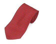 BARNEYS NEW YORK Sharp! Blue Diamond Red Arrowhead Mens Silk Neck Tie
