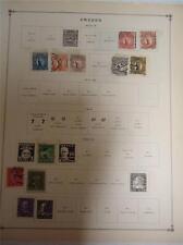 Vintage Sweden Postage Stamps 1910-1922 On Page Lot of 11