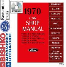 1970 Ford Lincoln Mercury Shop Service Repair Manual CD OEM Mechanic Guide