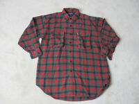 VINTAGE Ralph Lauren Button Up Shirt Adult Extra Large Red Green Plaid Mens 90s