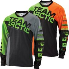 Arctic Cat Men's Sponsor Polyester Moisture-Wicking Relaxed Jersey Green Orange