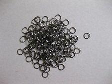 lot 100 anneaux de jonction laiton noir apprêt bijoux ring 0,5 mm NEUF