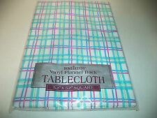 HomeTrends Square 52 Inch By 52 Inch Vinyl Flannel Back Tablecloth