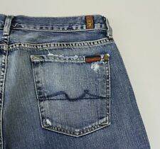 """7 For all mankind jeans """"the great china wall"""" distressed Boot Cut size 34"""