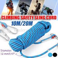 10M 10mm Schwerlast Kletterseil Sicherheitsseil Klettern Camping Sicheres Seil