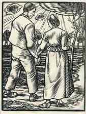 JUNGES PAAR  Rudolf SCHIESTL - Nürnberg - OriginalHolzschnitt 1926 HEYDER Verlag