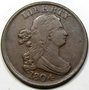 1804 Draped Bust Half , Plain 4 Stemless