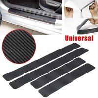 Universal 4x Car Door Sill Scuff Carbon Fiber Stickers Pedal Protect Accessories