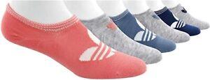 NWT Women Medium 5-10 Adidas Originals Trefoil Superlite No-Show Socks 6 Pairs M