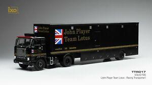 "IXO 1/43 TTR017 VOLVO F88 Racing Transporter ""JOHN PLAYER TEAM LOTUS"" Jacky Ickx"