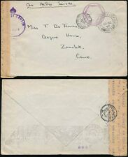 EGYPT 1943 FPO 3 TYPES of CENSOR to ZAMALEK CAIRO + PREPAID CONTINUOUS MACHINE