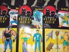 Vintage 1995 Kenner Adventures of Batman Robin Joker Bane RaS Al Ghul figure set