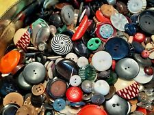6+ Pounds Huge Vintage Button Lot All Sorts Glass Metal Celluloid Other Estate
