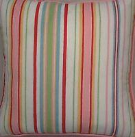 A 16 Inch cushion cover In Laura Ashley Seaside Stripe fabric