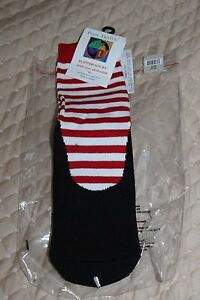 NEW Foot Traffic PRINT PATTERN RED BLACK WHITE  Women's Knee High Socks