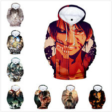 Attack on Titan 3D Men Women Kids Hoodie Pullover Sweatshirts Coat Gift UK6