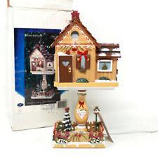 🔴 Hometown Kathy Hatch Grandmas House Lighted Birdhouse 2001 Vintage