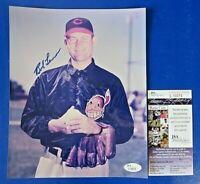 BOB LEMON SIGNED 8x10 PHOTO ~ INDIANS Baseball HOF Autograph ~ JSA L10074