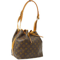 LOUIS VUITTON PETIT NOE SHOULDER BAG PURSE MONOGRAM VINTAGE M42226 MI881 36363