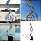 STUNNING SILVER SCULPTURE * Abstract Metal Art  INDOOR/OUTDOOR Design Jon Allen