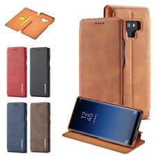 Slim PU Leather Card Slot Flip Case Stand Book Folio Cover For Samsung Note9 S8