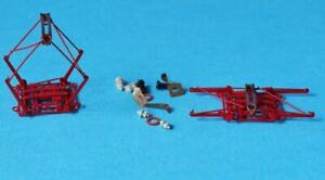 RIVAROSSI TWIN PANTOGRAPH KIT HRS2448 RED and ACCESSORIES LIMA JOUEF MARKLIN