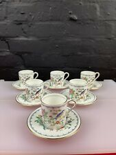 More details for 6 x aynsley pembroke coffee cups / cans and saucers set